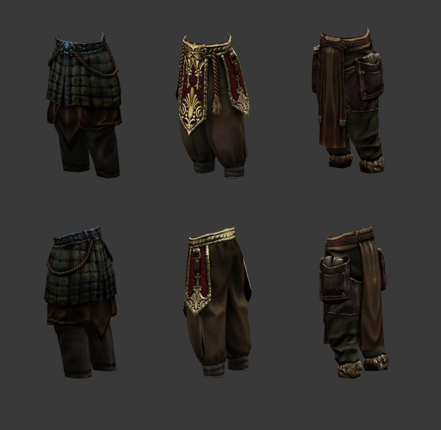spodnie z dodatkami